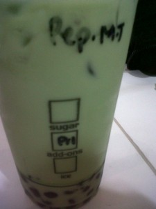 Peppermint Milk Tea